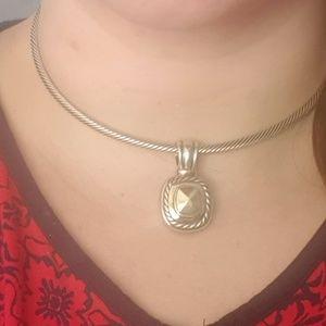 David Yurman Jewelry - David Yurman Gold Tips Cable Choker necklace